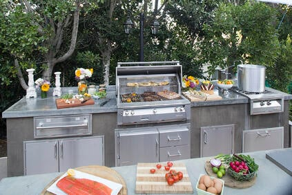 Alfresco Grills outdoor kitchen setup